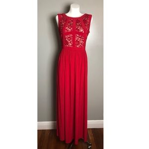 Red & Lace Prom Dress